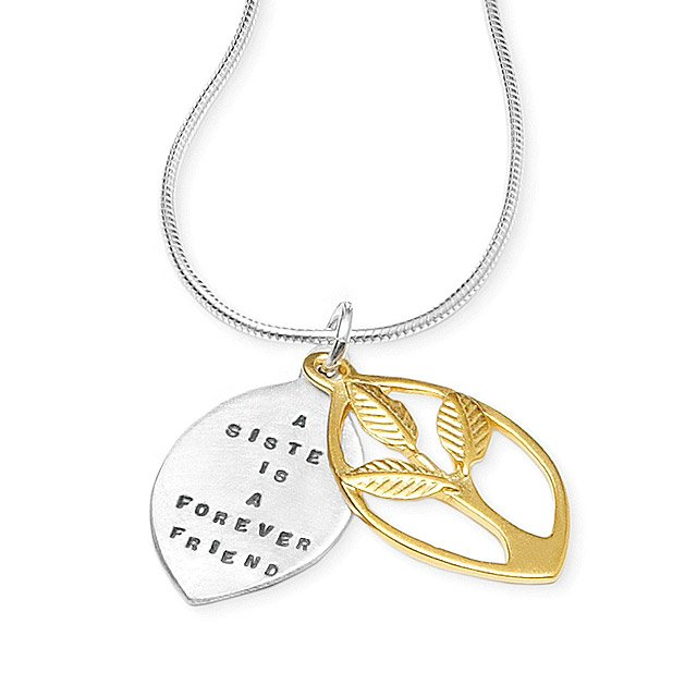 'A Sister Is A Forever Friend' Necklace