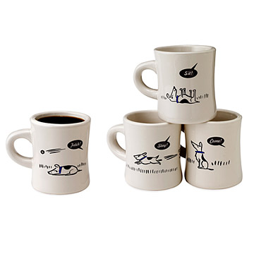 Bad Dog Diner Mugs - Set of 4