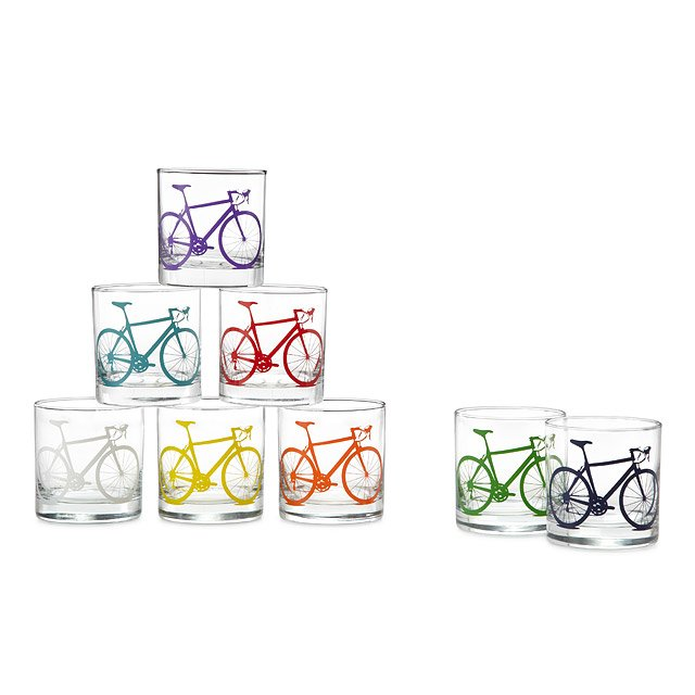 Bicycle Glasses - Set of 8