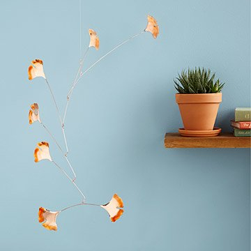 Blowing Leaves Copper Mobiles