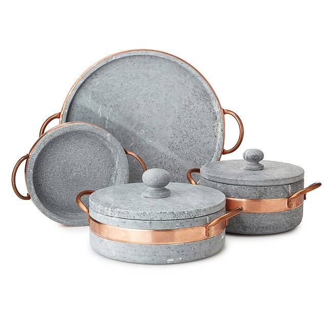 Soapstone Saute Pan with Copper Handle
