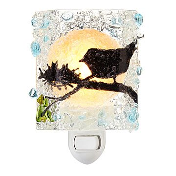 Recycled Glass Birds Nightlight