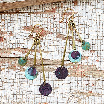 Patina Disk Earrings