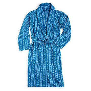 Men's Blue Ikat Robe