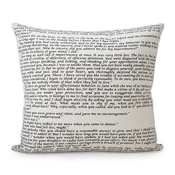Pride and Prejudice Pillow