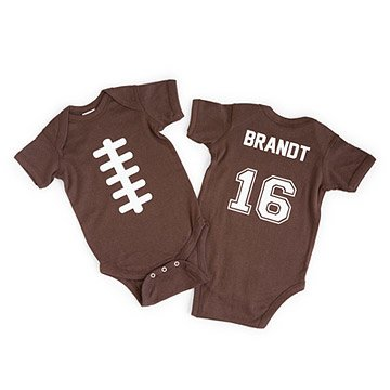 Personalized Football Babysuit