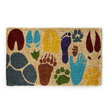 Array of Actual Sized Animal Tracks Doormat