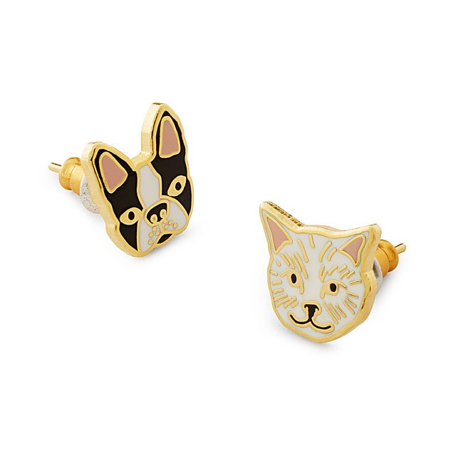 Cat & Dog Mismatched Earrings