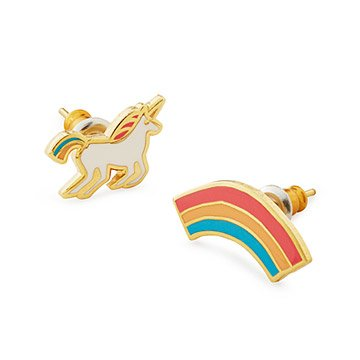 Unicorn & Rainbow Mismatched Earrings