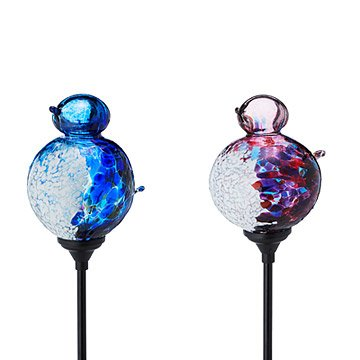 Solar Light Garden Stake - Bird Globe