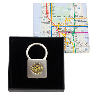 New York Transit Token Lock Keychain
