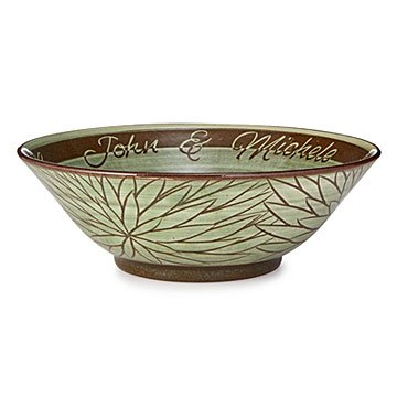 Flower Carving Custom Wedding Bowl