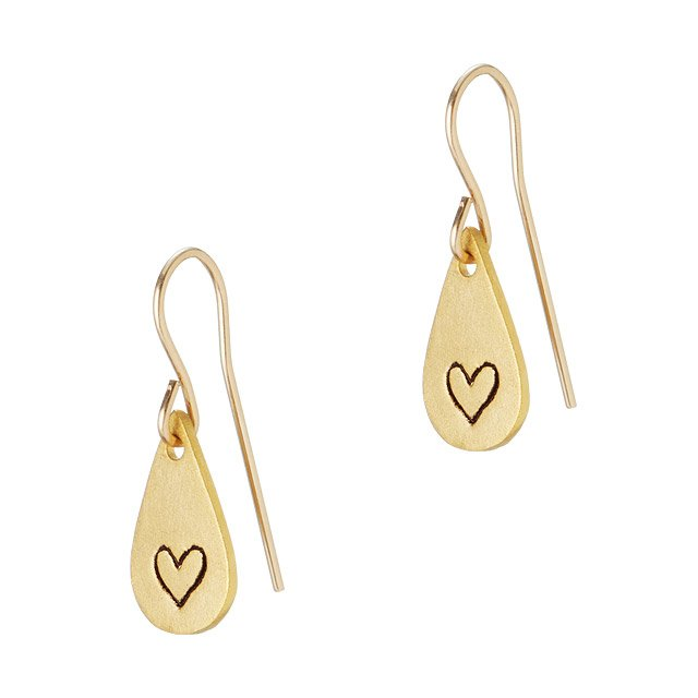 Tiny Love Hook Earrings
