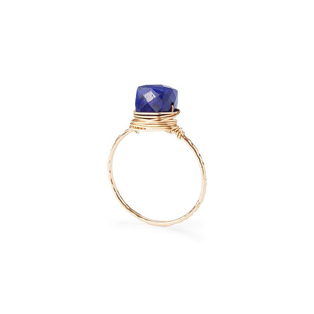 Wire Wrapped Lapis Ring