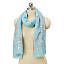 Sky Blue Silver Foil Dotted Scarf 2 thumbnail