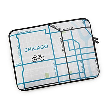City Bike Map Laptop Case