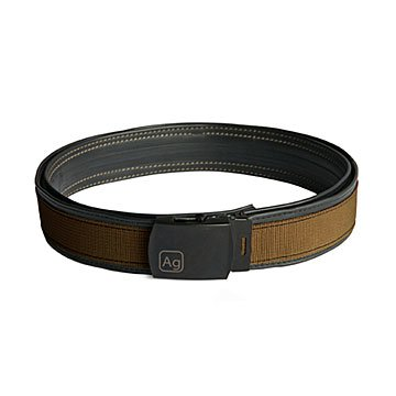 Reversible Reclaimed Bike Tube Belt - Brown