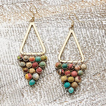 Kantha Chandeliers Earrings