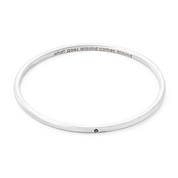 Personalized Single Diamond Bangle