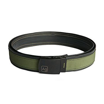 Reversible Reclaimed Bike Tube Belt - Green