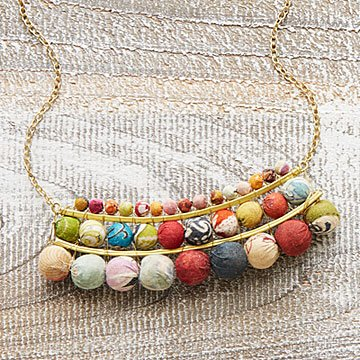 Kantha Arc Bib Necklace