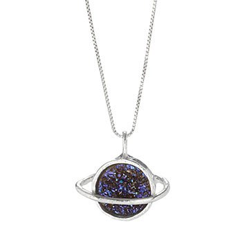 Saturn Sparkles Necklace
