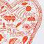 Anatomy of a Parent's Heart Screen Print 2 thumbnail
