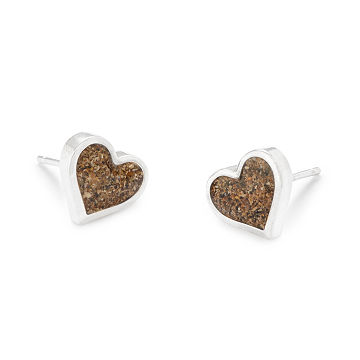 Custom Beach Heart Earrings