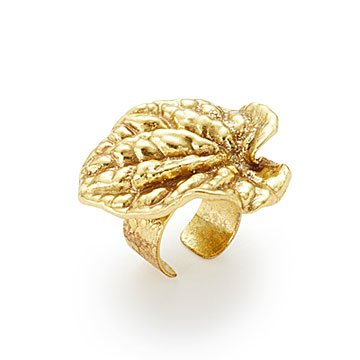 Gold Dipped Botanical Adjustable Ring