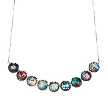 Nebula Rainbow Bib Necklace
