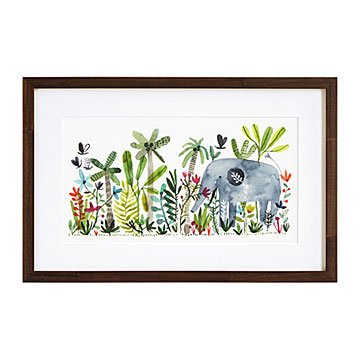 Playful Elephant Print