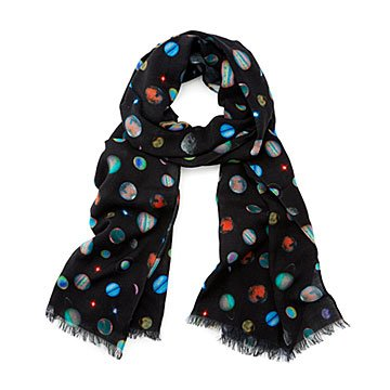 Hubble Planets Lightweight Wool Scarf