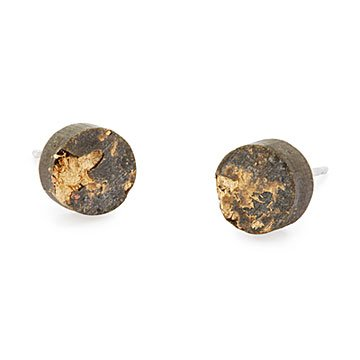 Gilded Concrete Stud Earrings