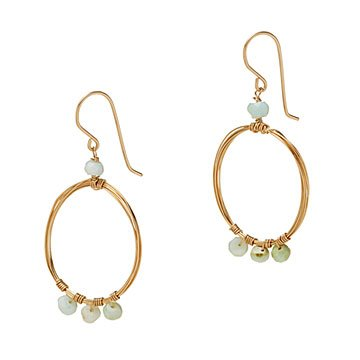 Peruvian Opal Hoop Earrings