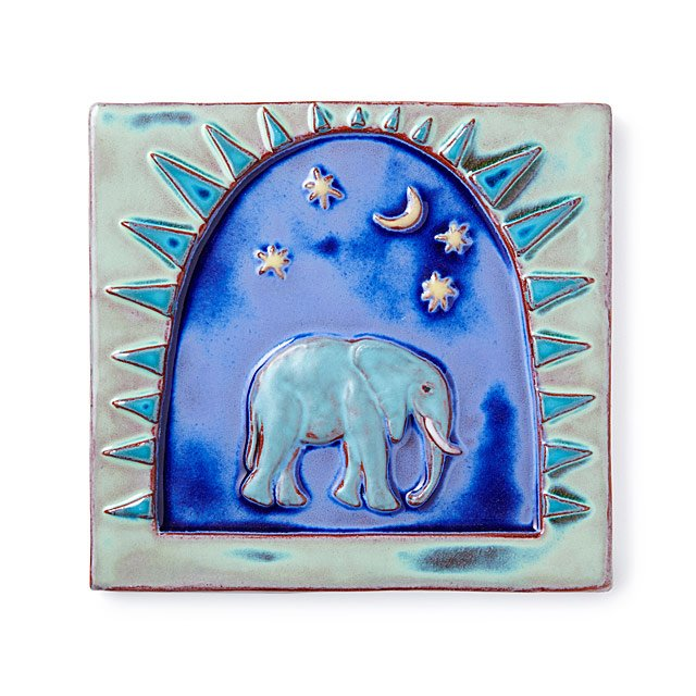 Elephant Art Tile