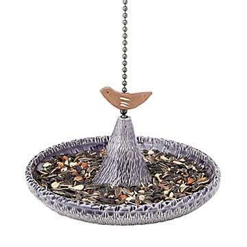 Starlight Stoneware Bird Feeder