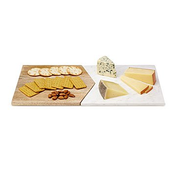 Marble and Mango Wood Serving Board Set