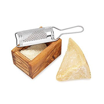 Olive Wood Grate and Serve Set