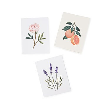 Botanical Scented Cards- Set of 5