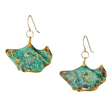 Patina Gingko Earrings