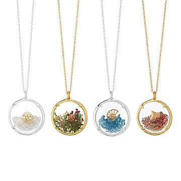 Four Seasons Glass Necklaces