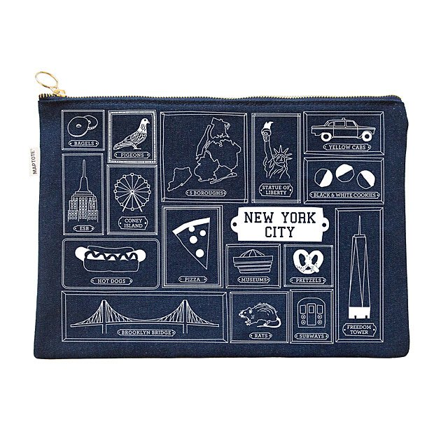 Favorite City Denim Pouch