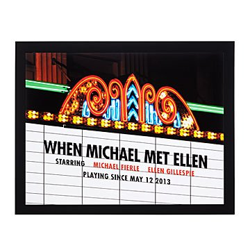 Personalized Movie Marquee Photo Print