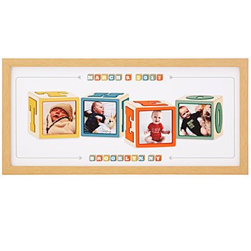 Personalized Photo & Name Block Art