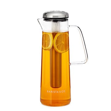 Glass Pitcher with Ice Bar