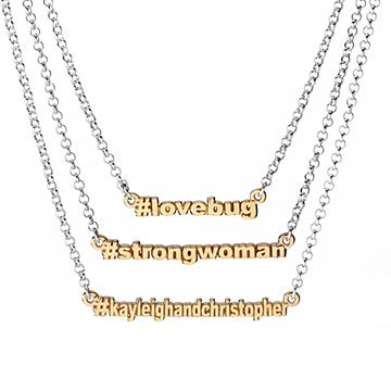 Personalized Hashtag Necklace
