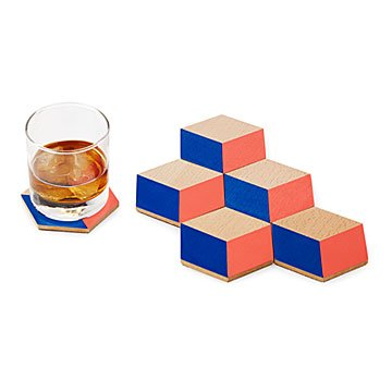 Optical Illusion Coasters - Set of 6