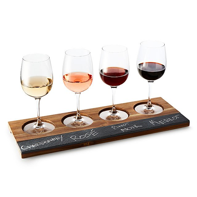 Wood & Slate Wine Taster's Board