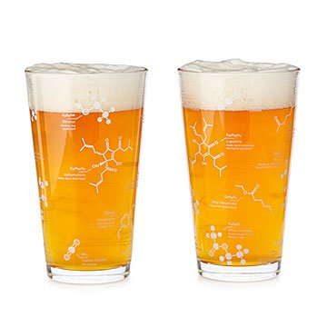 Beer Chemistry Pint Glass - Set of 2