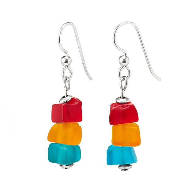 Traffic Light Stacking Earrings